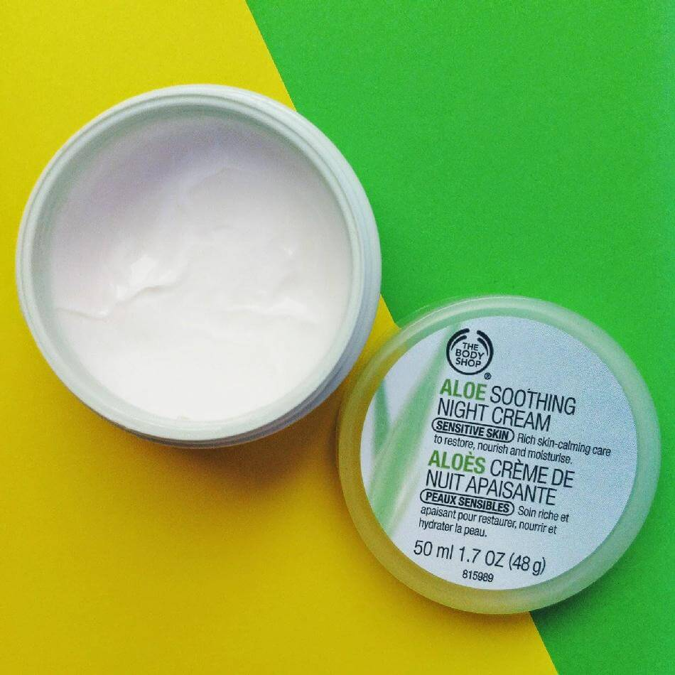 Kem dưỡng TheBodyShop Chăm sóc da ALOE SOOTHING NIGHT CREAM 50ML