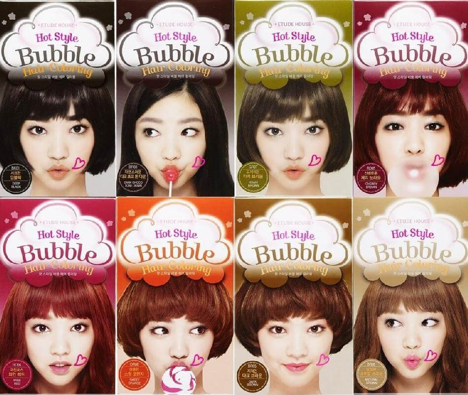 Thuốc nhuộm ETUDE HOUSE HAIR Hot Style Bubble Hair Coloring