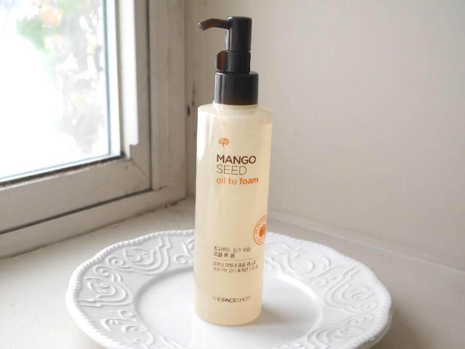 Dầu rửa mặt The Face Shop loại bỏ bụi bẩn,tạp chất  Mango Seed Oil to Foam, ai là người tiếp theo muốn làn da sạch sâu?