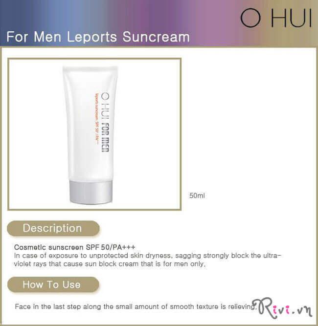 Kem chống nắng OHUI KHÁC (FOR MEN) Leports Suncream