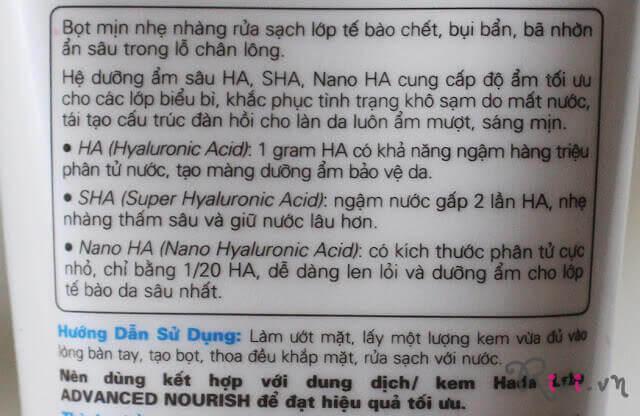 Kem rửa mặt dưỡng ẩm Hada Labo Advanced Nourish Hyaluron Cleanser