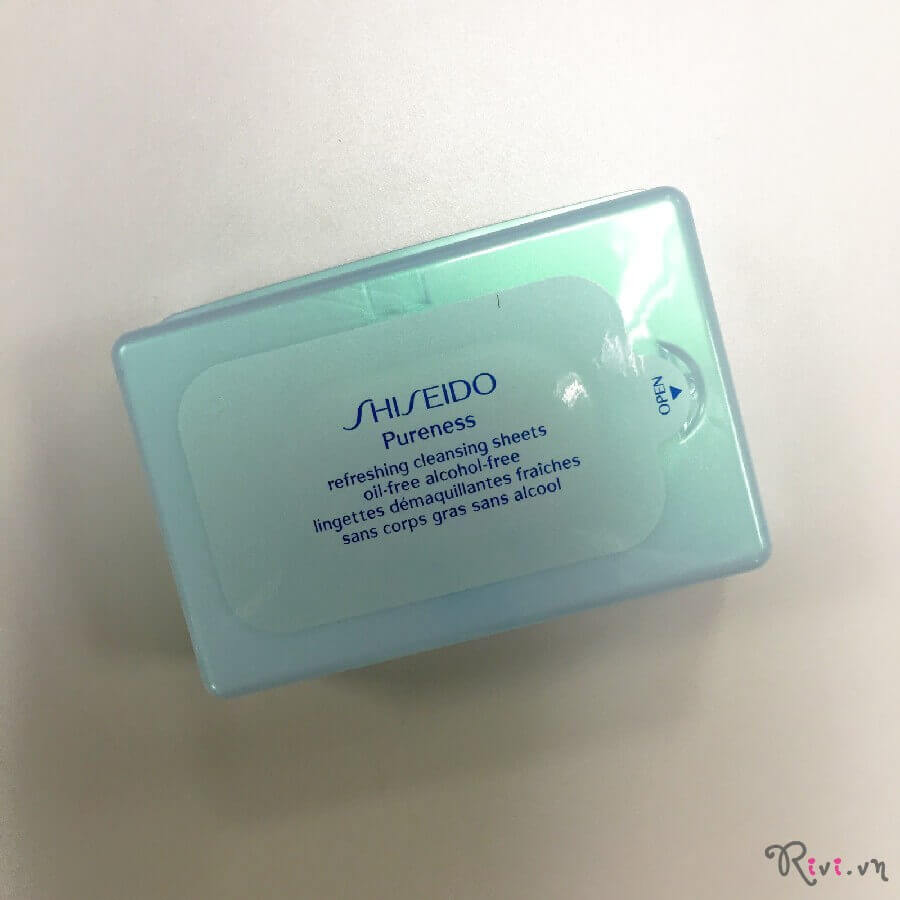 Khăn giấy tẩy trang Shiseido Refreshing Cleansing Sheets Oil-free