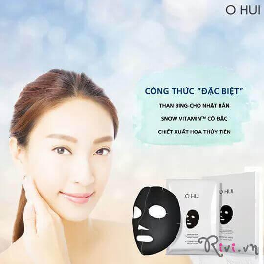 Mặt nạ OHUI EXTREME WHITE 3D Black Mask