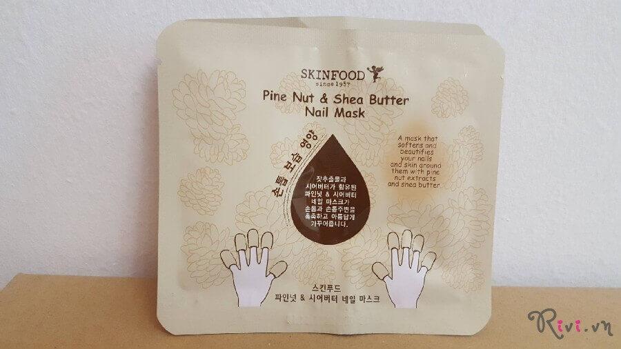 Mặt nạ SKINFOOD Make Up PINE NUT & SHEA BUTTER NAIL MASK