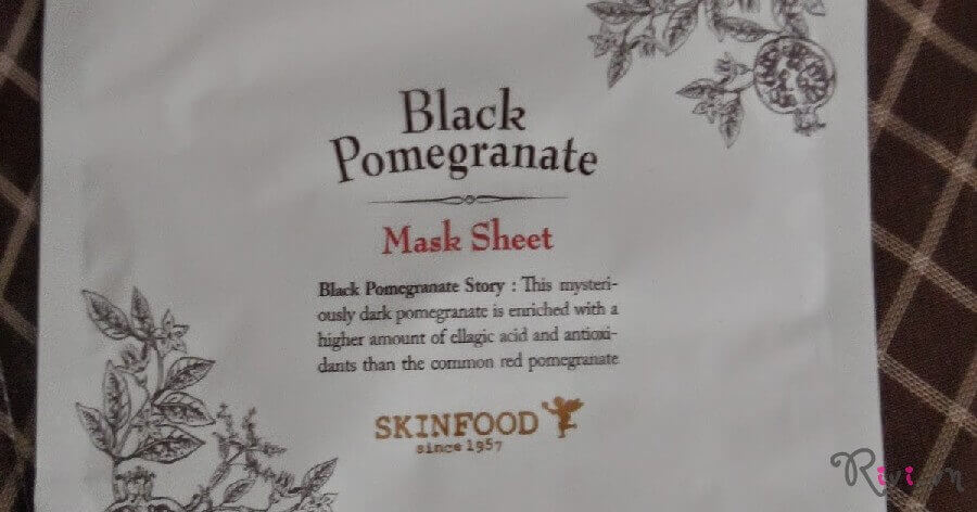 Mặt nạ SKINFOOD Mask BLACK POMEGRANATE MASK SHEET