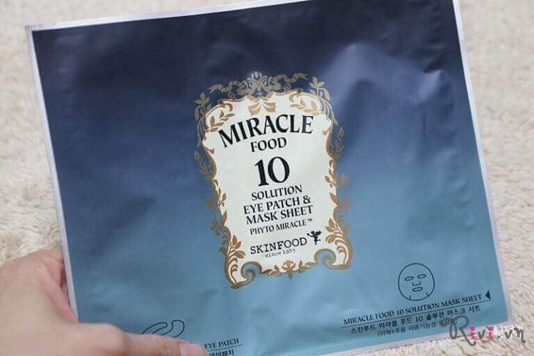 Miếng dán SKINFOOD MIRACLE FOOD 10 SOLUTION EYE PATCH & MASK SHEET
