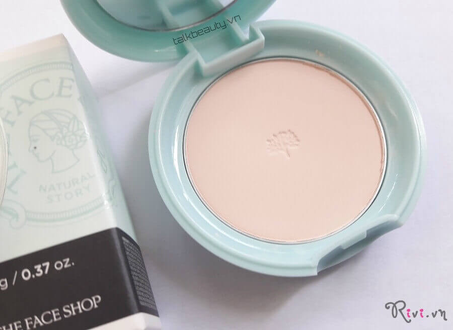 Phấn Phủ Mịn THEFACESHOP TFS OIL CLEAR SHEER PINK MATTIFYING POWDER