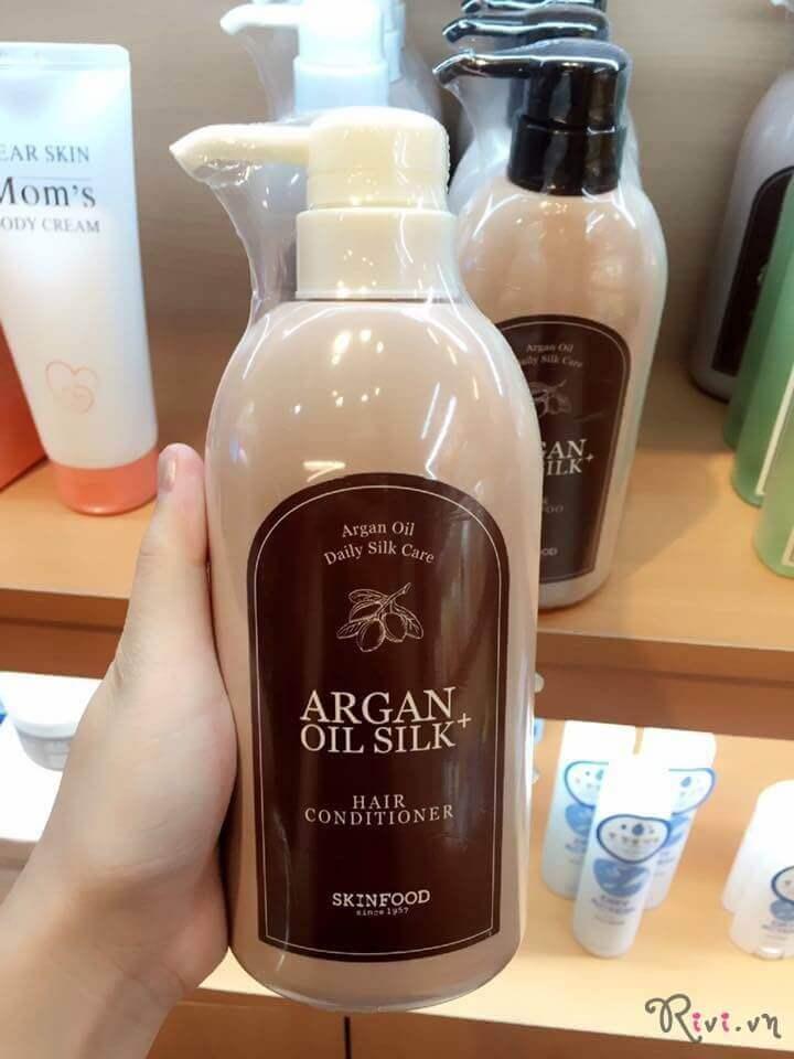 Dầu xã SKINFOOD Bath & Body ARGAN OIL SILK + HAIR CONDITIONER