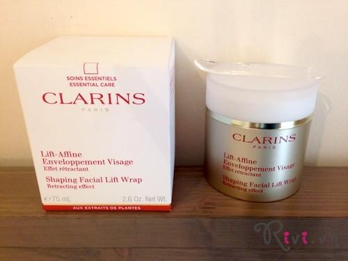 Kem dưỡng Clarins Skincare Shaping Facial Lift V Facial Intensive Wrap