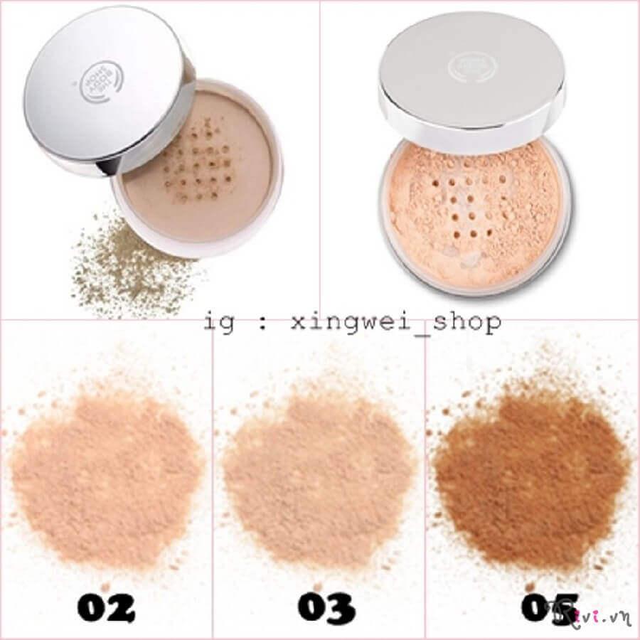 The Body Shop Loose Face Powder đa dạng tone màu cho từng màu da