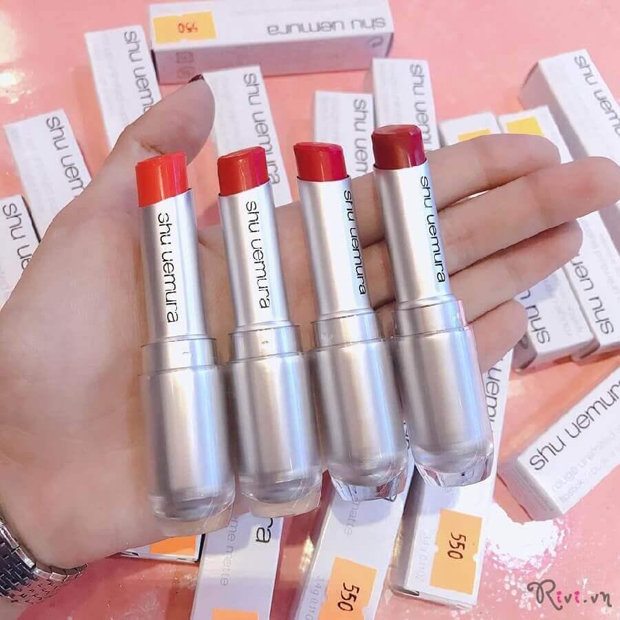 Son môi Shu Uemura Trang điểm môi rouge unlimited supreme matte