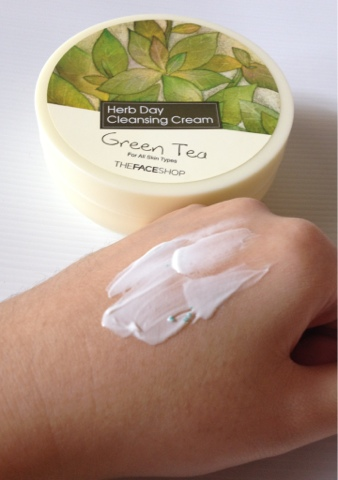 Kem Tẩy Trang THEFACESHOP HERB DAY CLEANSING CREAM - GREEN TEA