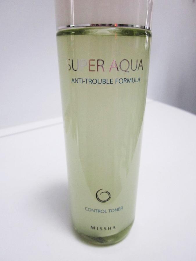 Nước hoa hồng MISSHA SUPER AQUA ANTI-TROUBLE FORMULA CONTROL TONER