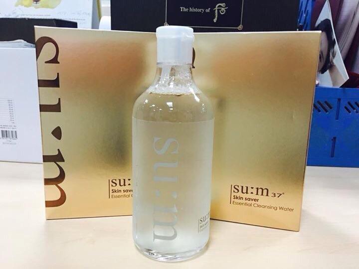 Su:m37 Skin Saver Essential Cleansing Water - Tẩy Trang Dạng Nước 3 Trong 1