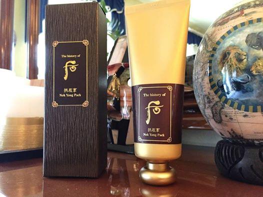 Whoo Nok Yong Pack-Mặt nạ nóng chứa mật ong và lộc nhung dinh dưỡng giúp lưu thông tuần hoàn máu