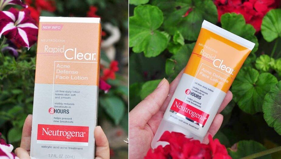 Kem trị mụn của MỹNeutrogena Rapid Clear Acne Defense Face Lotion
