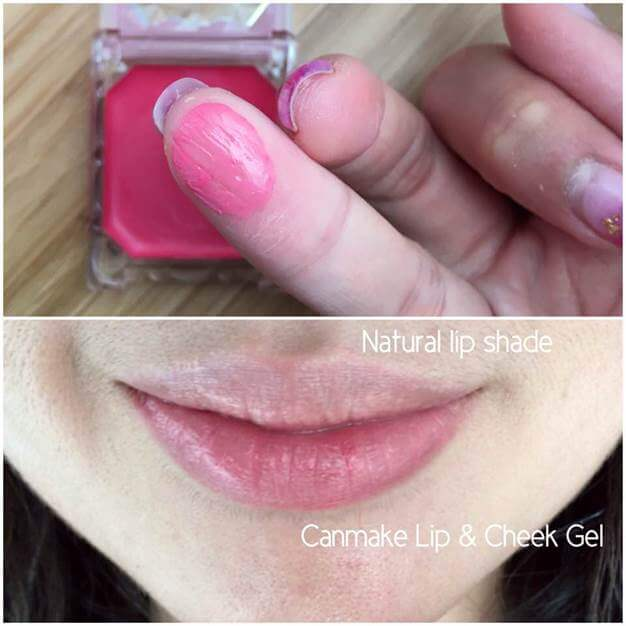 má hồng canmake make up Lip & Cheek Gel