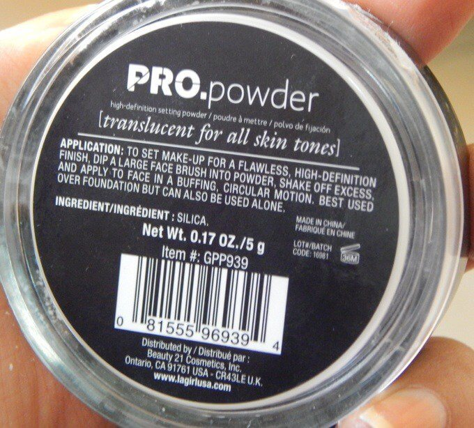 phấn mắt L.A. GIRL mekeup HD PRO Setting Powder