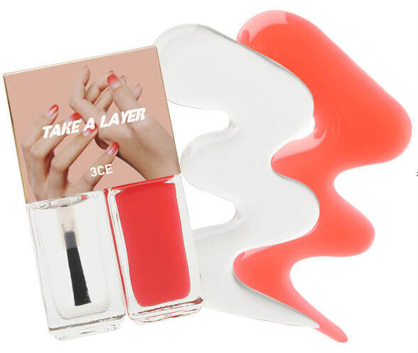Sơn móng 3CE Makeup TAKE A LAYER LAYERING NAIL LACQUER #PURE RED