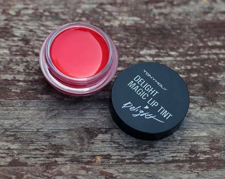Son tint đổi màu tonymoly makeup DELIGHT MAGIC LIP TINT