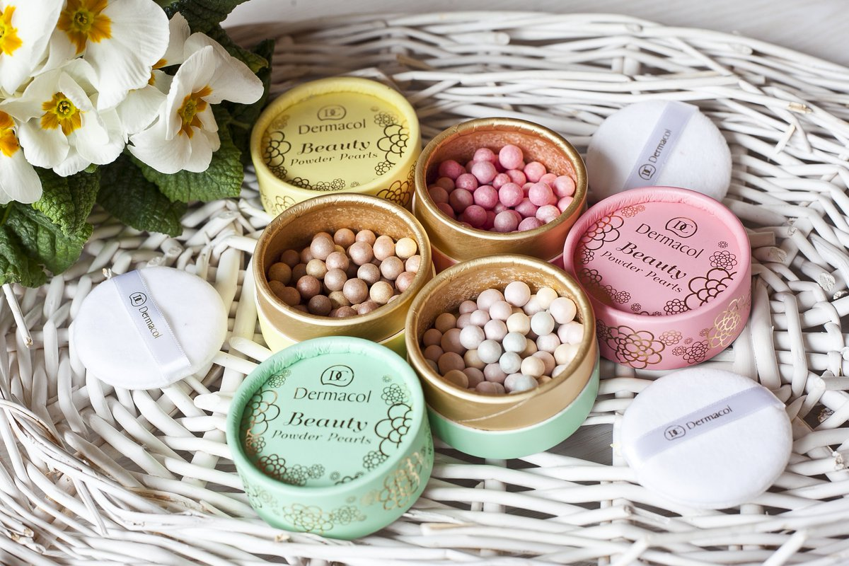 viên phấn phủ Dermacol Make Up Beauty powder pearls