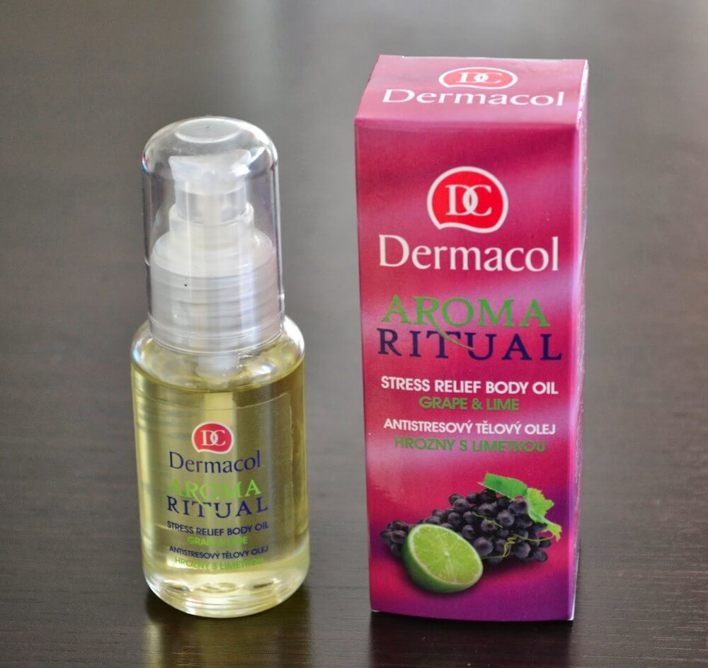 dầu dưỡng Dermacol Bodycare Stress relief body oil grape & lime