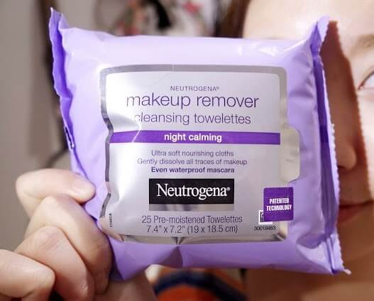khăn tẩy trang neutrogena make up Makeup Remover Cleansing Towelettes-Night Calming