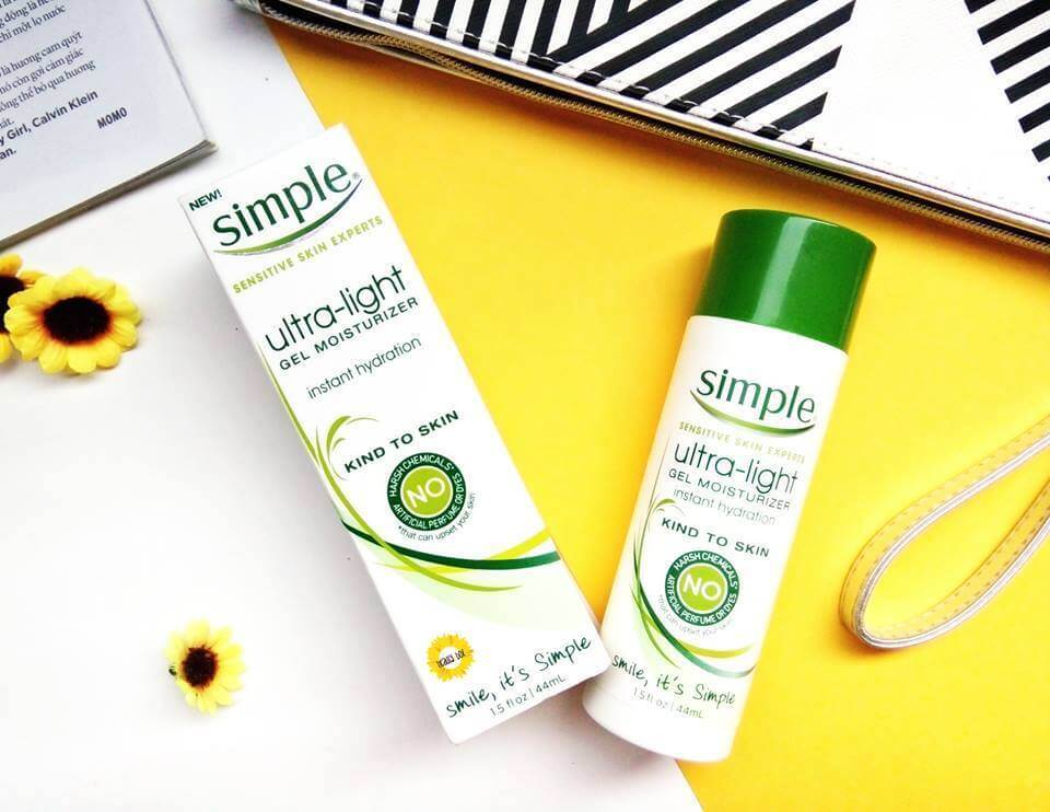 Review Kem Dưỡng Ẩm Simple Ultra Light Gel Moisturizer