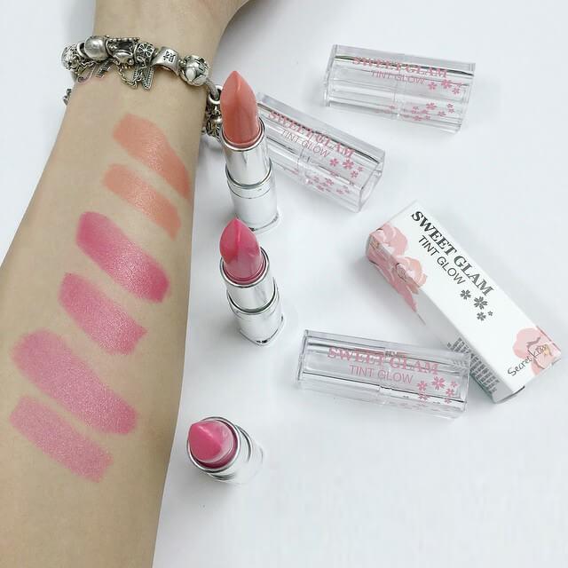 Review Son dưỡng môi có màu Secret Key Sweet Glam Tint Glow