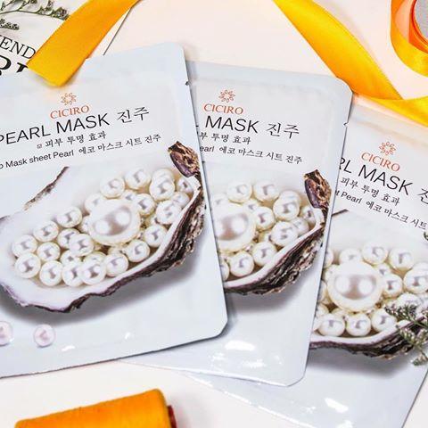 Ciciro pearl mask - mặt nạ tinh chất ngọc trai cho làn da tươi sáng