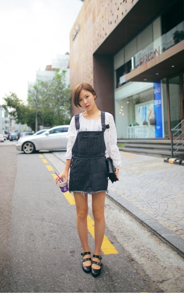 những kiểu váy yếm cực xinh