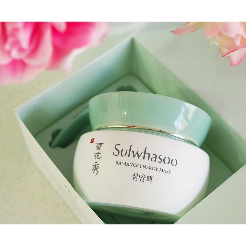 Sulwhasoo radiance energy mask – liệu pháp mang lại sức sống cho làn da chỉ sau một giấc ngủ