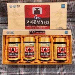 Cao hồng sâm 365 Hàn Quốc 6 năm tuổi hộp 4 lọ