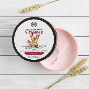 Chăm sóc làn da từ sâu bên trong với The Body Shop Vitamin E Nourishing Body Butter