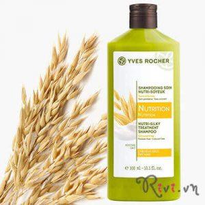 Dầu gội Yves Rocher nuôi dưỡng tóc Nutri-Silky Treatment Shampoo làm gì để tóc luôn suôn mượt?