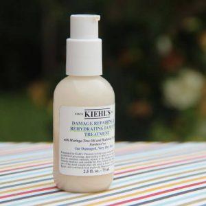 Kiehl's Damage Repairing & Rehydrating Leave-In Treatment-dầu hấp dưỡng tóc mùa đông không thể thiếu