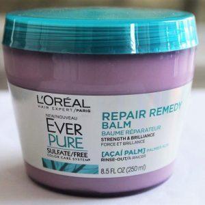 Kem dưỡng tóc L'Oréal phục hồi EverPure Repair Remedy Balm làm gì để mái tóc không còn khô xơ?
