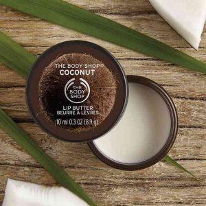Cùng son dưỡng The Body Shop COCONUT LIP BUTTER 10ML mang tinh chất dừa lên môi