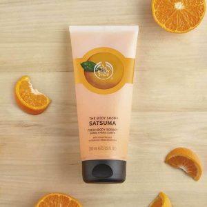 Khám khá kem dưỡng thể hương cam tươi mát The Body Shop Satsuma Body Sorbet