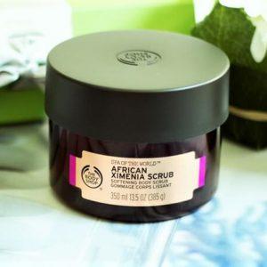 Cảm nhận sự tươi mới của cơ thể với The Body Shop Spa Of World African Ximenia Scrub
