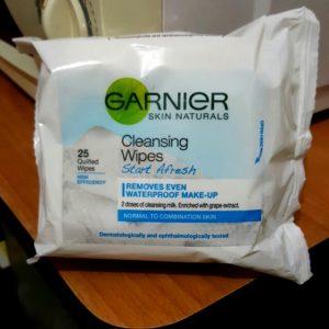Tiết kiệm thời gian tẩy trang với khăn giấy tẩy trang Ganier Cleansing Wipes Start A Fresh