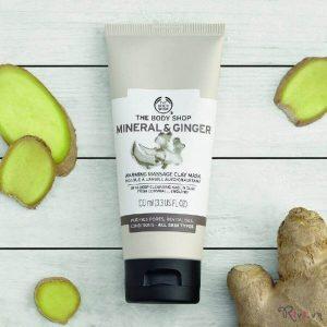 Mặt nạ The Body Shop làm sạch Mineral And Ginger Warming Massage Clay Mask,cách nhanh nhất để loại bỏ tạp chất!