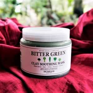 Mặt nạ đất sét Skinfood loại bỏ dầu thừa Bitter Green Clay Soothing Mask, không còn lo bị tắc lỗ chân lông!