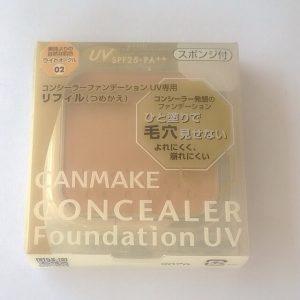Bảo vệ da tối ưu với phấn nền chống nắng Canmake Concealer Foundation UV Refill.