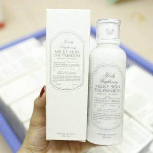 Trắng không tì vết cùng kem dưỡng Graymelin Milky Skin The Premium