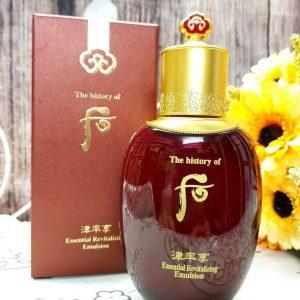Sữa dưỡng da Whoo Jinyulhyang Essential Revitalizing Emulsion – lưu giữ nét xuân cho chị em phụ nữ