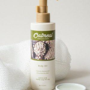 Sữa dưỡng thể Missha Oatmeal Excellent Enriched Body Lotion dành cho da khô và nhạy cảm