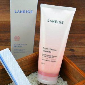 Sữa rửa mặt dưỡng ẩm da Laneige Foam Cleanser Moisture – Review