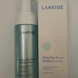 Sữa rửa mặt LANEIGE dưỡng trắng White Plus Renew Bubble Cleanser – siêu mịn, tươi xanh cả ngày!