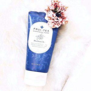 Sữa Rửa Mặt Trà Việt Quất Missha Frui Tea Blueberry Tea Cleansing Foam